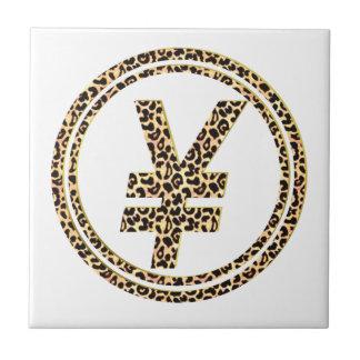 ¥ del leopardo azulejo