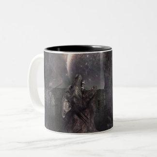 Del lobo y del hombre taza bicolor