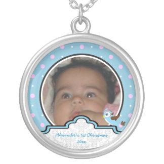 Del lunar del pájaro de la etiqueta del bebé 1r joyerías