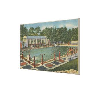 Del Monte, CA - la zambullida romana en el hotel Lona Envuelta Para Galerias