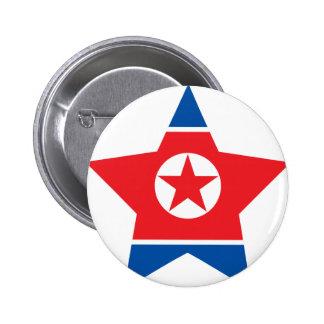 Del norte+Estrella de Corea Pins