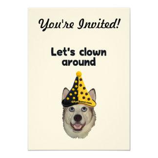 Del payaso perro alrededor invitación 12,7 x 17,8 cm
