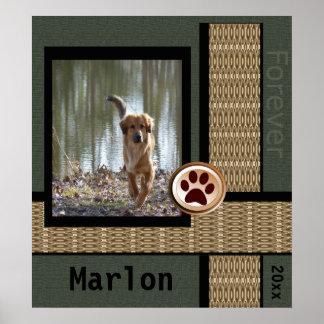 Del perro del monumento amigo para siempre póster