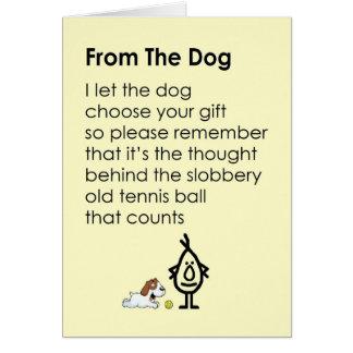 Del perro - un poema divertido del feliz tarjeta de felicitación
