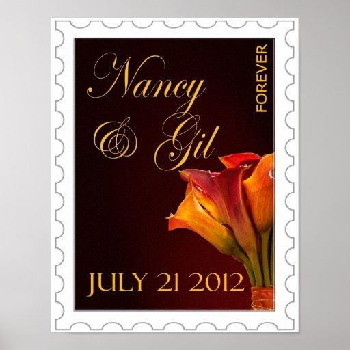 Del personalizado poster para siempre para casarse