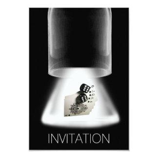 Del póker de la noche de los muchachos de la noche invitación 8,9 x 12,7 cm
