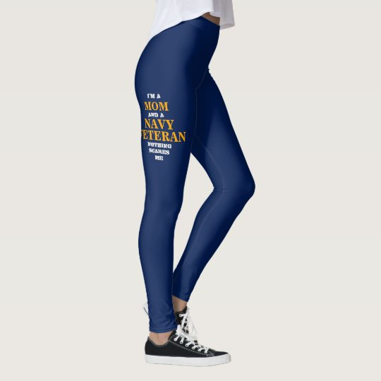 "DEL ""POLAINAS DE SPANDEX VETERANO DEL MOM/NAVY"" DE LEGGINGS"