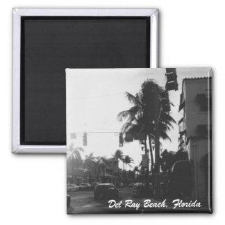 Del Ray Beach, imán de la foto de la calle de la
