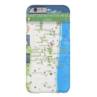 Del Ray y caja del teléfono del mapa del oro de la Funda Barely There iPhone 6
