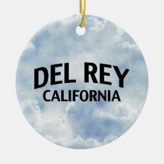Del Rey California Adorno Navideño Redondo De Cerámica