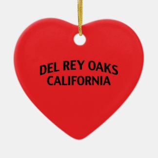 Del Rey Oaks California Adorno Navideño De Cerámica En Forma De Corazón