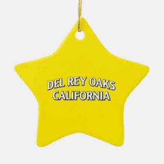 Del Rey Oaks California Adorno Navideño De Cerámica En Forma De Estrella