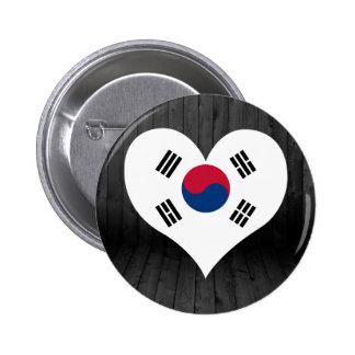 Del sur+Bandera de Corea coloreada Chapa Redonda 5 Cm
