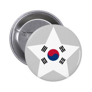 Del sur+Estrella de Corea Pins