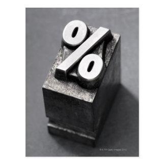 % del tipo de la prensa de copiar postal