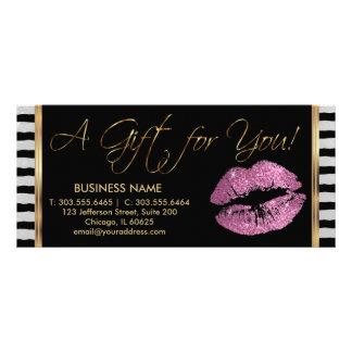 Del vale un negocio 3 del lápiz labial del rosa tarjeta publicitaria