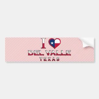 Del Valle, Tejas Etiqueta De Parachoque