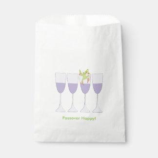 Del vino del Passover bolso del favor de Goodie de Bolsa De Papel