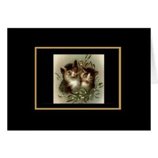 Del vintage de la tarjeta todavía del gato vida