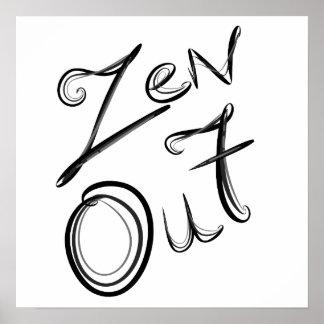 Del zen poster hacia fuera