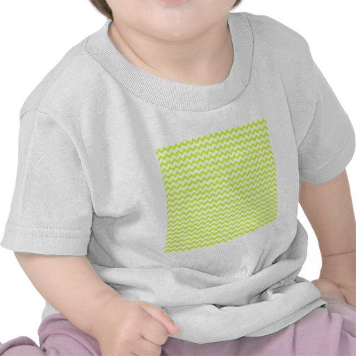 Del zigzag amarillo blanco y fluorescente de par e camiseta