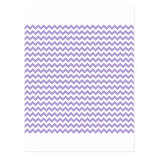 Del zigzag púrpura en colores pastel blanca y lige postal