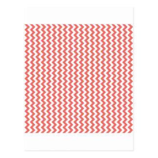 Del zigzag rojo blanco y en colores pastel de par  postal