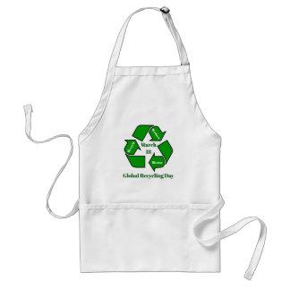 Delantal 18 de marzo, día de reciclaje global