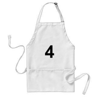 Delantal 4 - número cuatro
