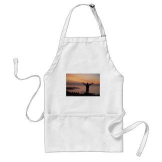 Delantal Acantilado de la puesta del sol