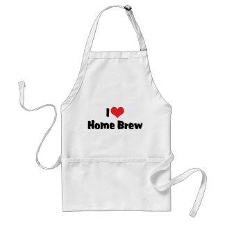 Delantal Amo el Brew casero del corazón - amante de la