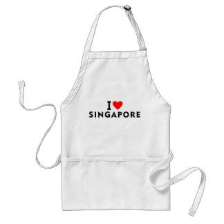 Delantal Amo el país de Singapur como el turismo del viaje