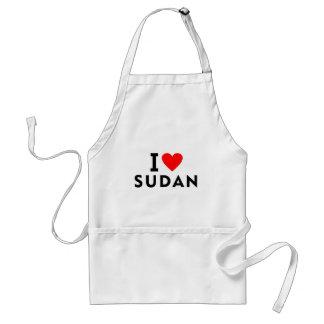 Delantal Amo el país de Sudán como el turismo del viaje del
