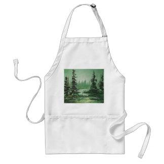 Delantal Ana Hayes que pinta el bosque verde