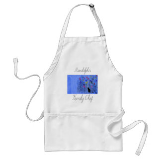 Delantal Apron_Family Chef_Flowers-Cat_Name_Template