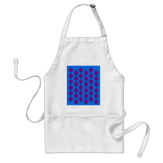 Delantal Aztecas de los elementos del diseño azules