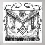 Delantal azul de la casa de campo del Freemasonry Poster