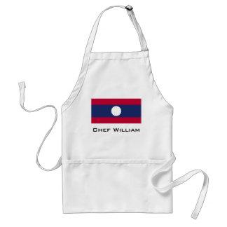 Delantal Bandera de Laos