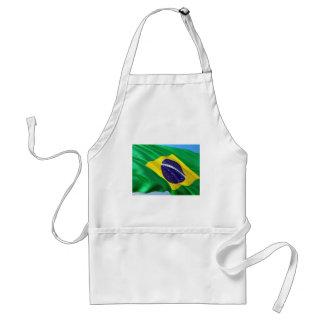 Delantal Bandera internacional el Brasil