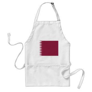 Delantal Bandera nacional del mundo de Qatar