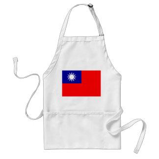 Delantal Bandera nacional del mundo de Taiwán
