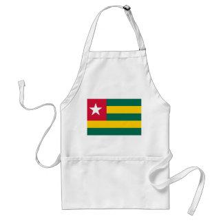 Delantal Bandera nacional del mundo de Togo