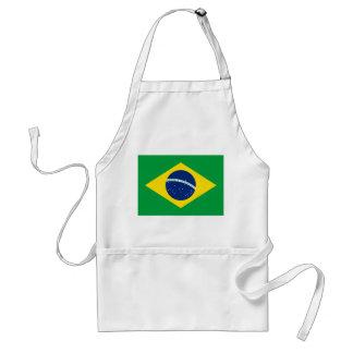 Delantal Bandera nacional del mundo del Brasil