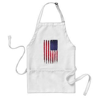Delantal Bandera patriótica americana del Grunge