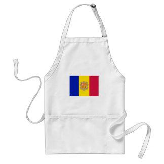 Delantal Bandera patriótica de Andorra