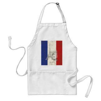 Delantal Bandera y símbolos de Francia ID156