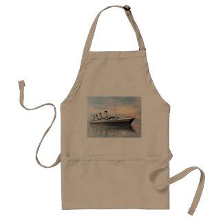 Delantal boat_titanic_close_water_waves_sunset_pink_standar
