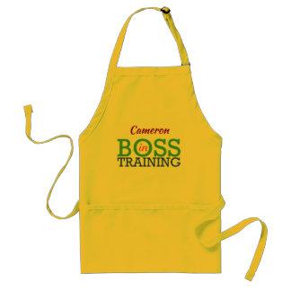 Delantal Boss en el entrenamiento