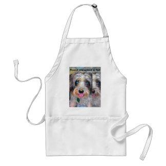 Delantal cacahuete el perro del rescate