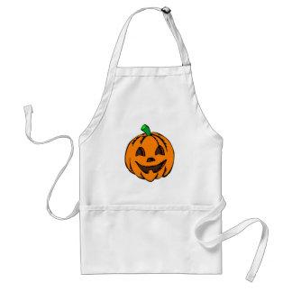 Delantal Calabaza feliz de Halloween de la linterna de Jack